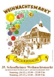 Weihnachtsmarkt Schaafheim @ Rund ums Rathaus