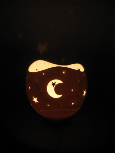 Teelicht Mond Beleuchtet
