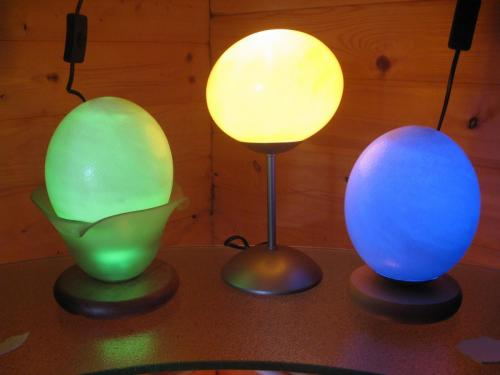 Eierlampe verschiedene Farben