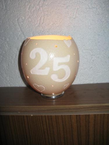 Teelicht mit Zahl