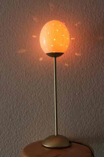 Lampe aus Straußeneierschale